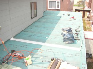 屋根改修 下地材施工