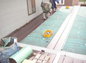 新規 屋根材施工
