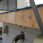 破風木材腐食部分交換