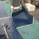 小屋根(板金1枚物)施工